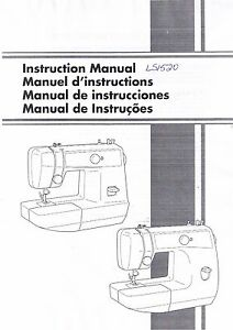 brother ls1520 ls2125i vx1435 sewing machine user guide instruction rh ebay com brother sewing machine instruction manual download brother ls14 sewing machine user guide