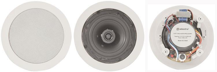 Adastra 952.155 CC Series 2 Way 8  Ceiling Speaker Easy Inssizetion White - New