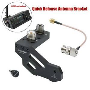 Quick-Release-Antenna-Bracket-For-ICOM-IC-705-Portable-Shortwave-Radio-Black
