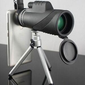 40x-Zoom-Optique-Monoculaire-Telescope-Lentille-Camera-w-Tripode-BAK4-Pour