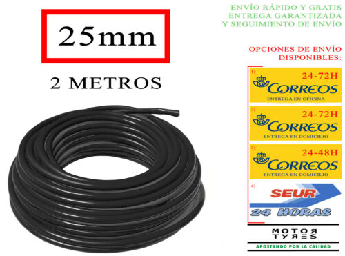 2 METROS CABLE GENERAL BATERIA ARRANQUE SECCION 25mm2 12V 24V COBRE NEGRO SOLAR