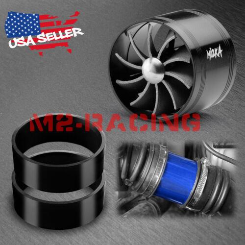 "Mi2KA Turbine Air Intake Fuel Gas Saver Single Fan System Turbo 2.5/""-3.0/"" Black"