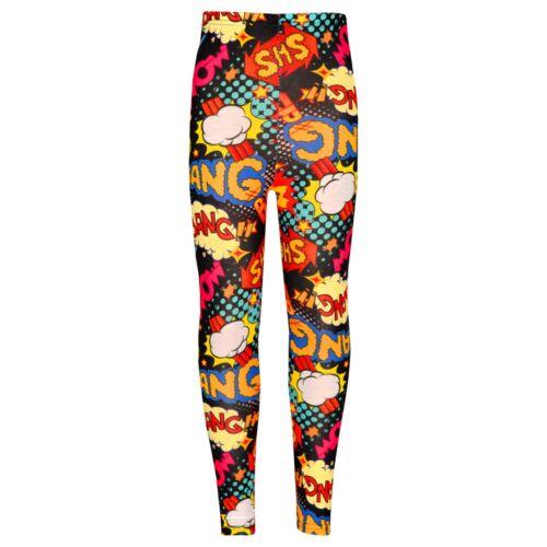 Kids Girls Wow Bang Boom Leggings Trendy Stylish Leggings Loungewear 7-13 Years