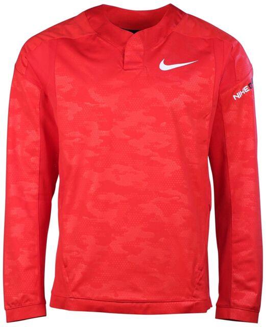 68ff9eae8d95 Nike Men s Baseball Vapor Long Sleeve Windshirt - University Red - 2XL NWT