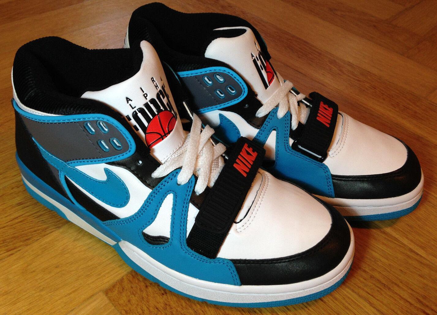 Nike Air Alpha Force II Mita white bluee Vintage US9 UK8 Eur 42,5 rar never worn