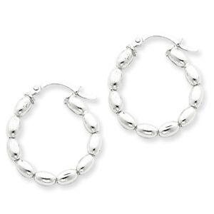 Beaded-Polished-Hinged-Hoop-Earrings-1-5mm-x-21mm-925-Sterling-Silver