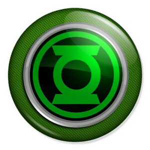 green lantern logo 25mm 1 pin badge button dc comics. Black Bedroom Furniture Sets. Home Design Ideas