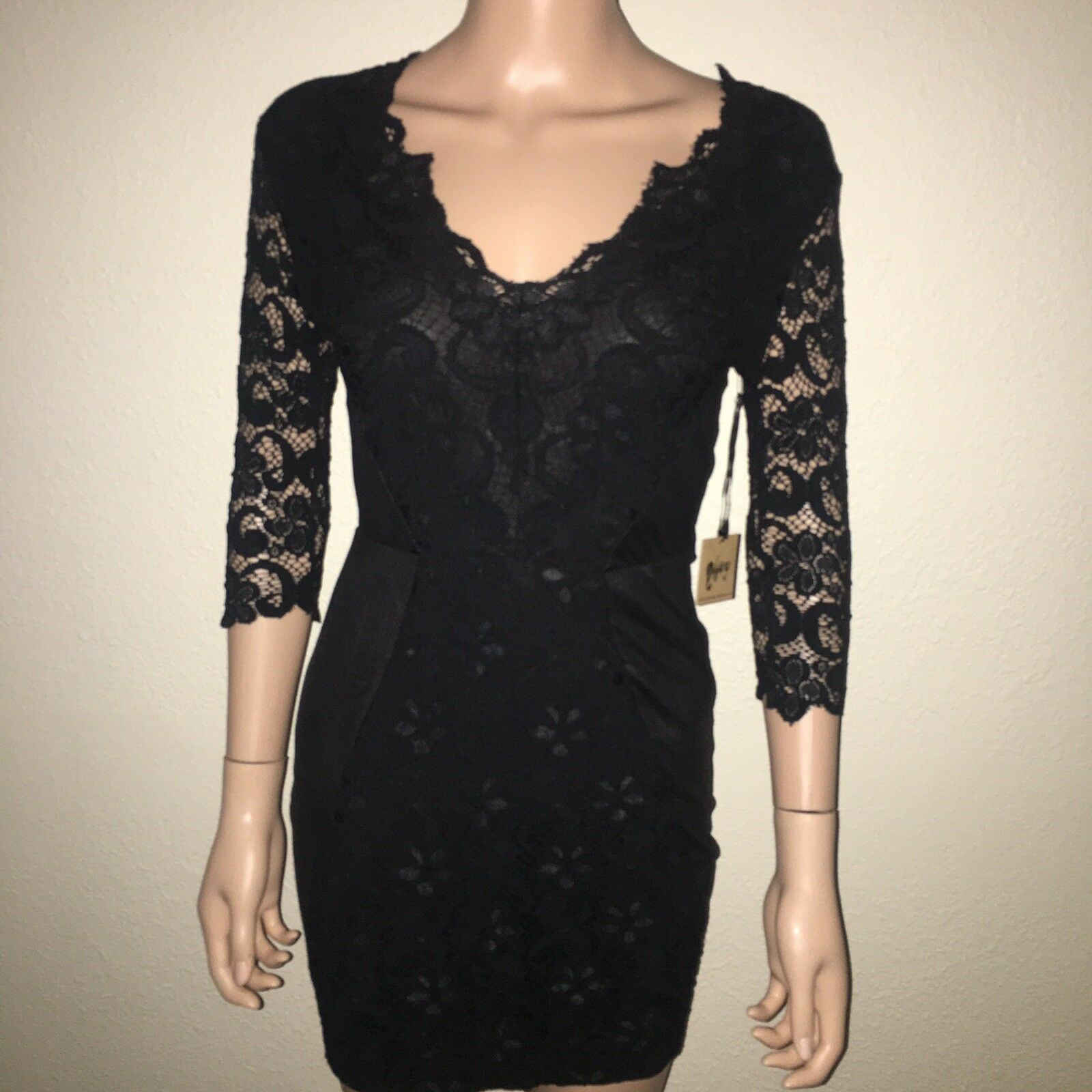NightCap Little schwarz Lace Crochet Dress Woherren Größe 1 New