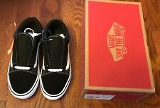 VANS Old Skool Lite Suede Canvas Navy White Size US 10.5