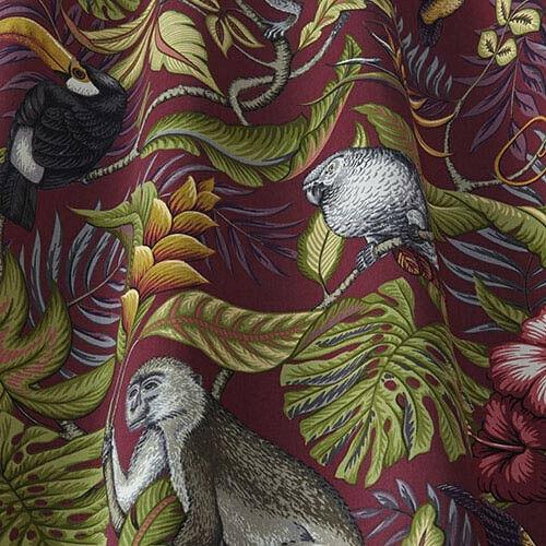 Tapicería Cortina de selva iliv Arándano Vintage De Diseñador Tela De Algodón