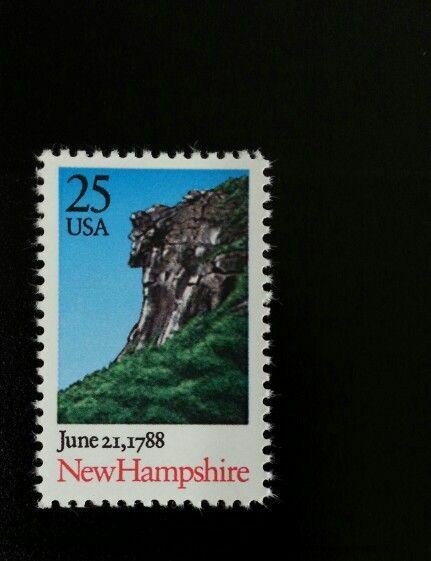 1988 25c New Hampshire, Old Man of the Mountain Scott 2