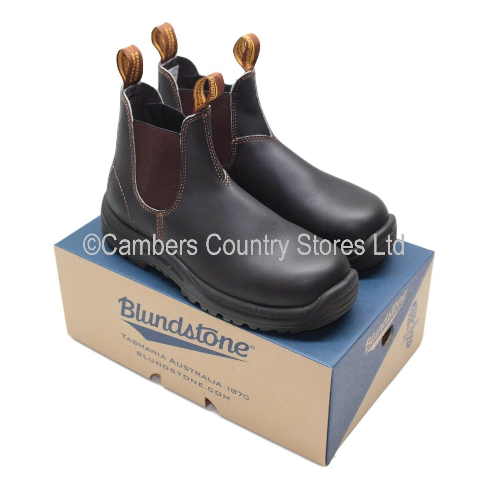 NEW Quality Australian bluendstone 192 Safety Dealer Work Boots Brown Size Choice