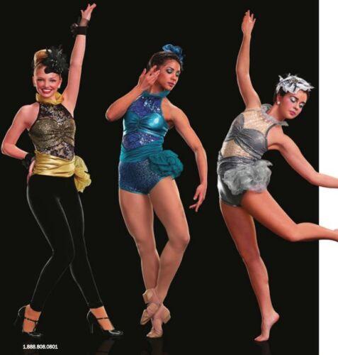 Contemporary  Jazz Tap Dance Costume Side Bustle High Neck Sequins Lace Mystique