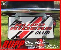Rupp Mini Bike License Plate V1 - Minibike Motorcycle