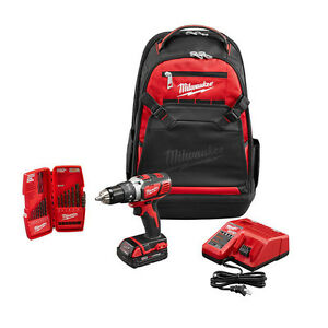 Milwaukee-2606-21BP-18-Volt-M18-Lithium-Ion-Drill-Driver-Backpack-Starter-Kit