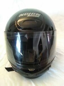 Nolan-Integrale-N27-Motorcycle-Scooter-Helmet-Black-Full-Face-Shield-Size-Medium