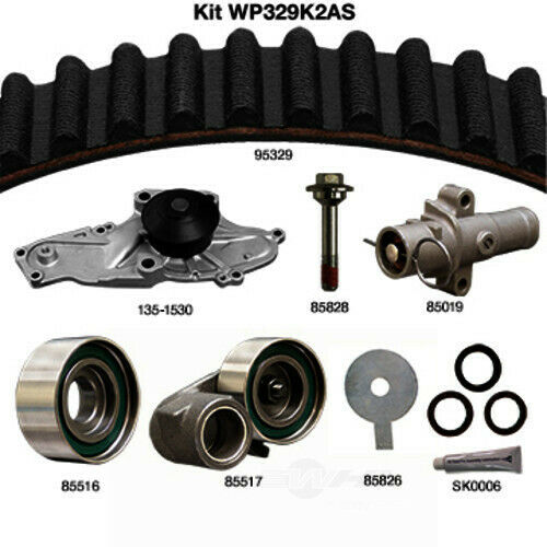 Engine Timing Belt Kit with Water Pump-Water Pump Kit with seals Dayco WP329K2AS