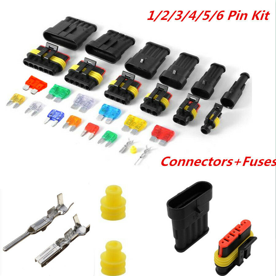 WiMas 1//2//3//4//5//6 pin Electrical Connector Wire Automotive Connector Waterproof Car Electrical Connector with Mini Automotive Blade Fuses 240PCS for Car Motorcycle Truck Boats