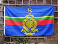 Royal Marines Commando Green Beret/Cap Badge On Stable Belt Colour Military Flag