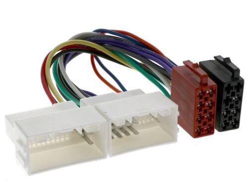Hyundai i10 2 i20 1 pb i20 2 gb i30 2 DG GDH Auto Radio Adaptador Cable ISO