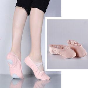 Professional-Ballet-Dancers-Women-Ballet-Dance-Split-Sole-Canvas-Slipper-Shoes-O
