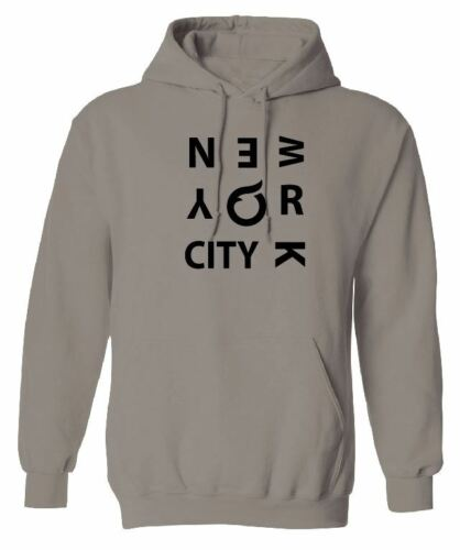 NEW YORK CITY HOODIE SWEATSHIRT WOMENS HOODY LADIES NYC AMERICA FASHION CASUAL