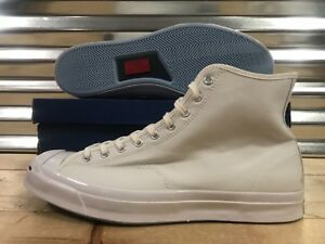 abd32b97530c Converse Jack Purcell JP Signature Hi Top Sneakers Triple White SZ ...