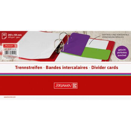 Trennstreifen BRUNNEN Colour Code 10-6604160-BR 240 x 105 mm Purple Karton Teild