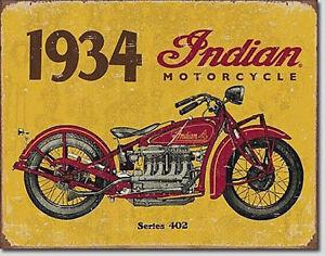 Vintage Indien Vélo Oldtimer Atelier Garage Déco Plaque Repro Moto