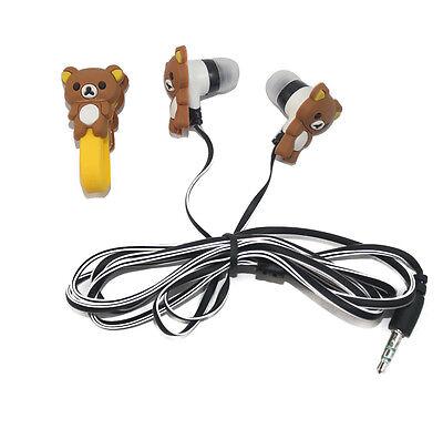 Rilakkuma Headphones Earbuds Headset+Earphone Winder for Cell Phone MP3 MP4