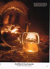 """PUBLICITE ADVERTISING 114  1979  GUY LAROCHE  parfum """" J'AI OSE"""""""