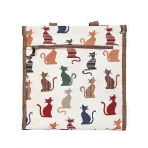 Signare Katzen Cheeky Gobelin stilisierte Kätzchen Einkaufstasch Beutel Shopper