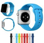 Silicone Wrist Bracelet Sport Band Strap For Apple Watch Replacement 38mm/42mm