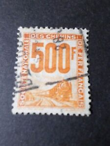 FRANCE-1944-COLIS-POSTAUX-timbre-n-25-oblitere-VF-used-STAMP-TRAIN