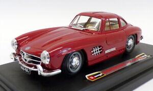 Burago-1-24-Scale-Model-Car-0522-1954-Mercedes-Benz-300SL-Deep-Red