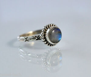 Rainbow-Moonstone-Ring-925-Solid-Sterling-Silver-Handmade-Jewelry-US-RBM-034