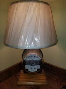 Rare Vintage Antique Electric Meter Table Lamp Steampunk Steam
