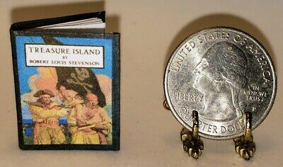 C 1:12 SCALE MINIATURE BOOK DAVID BALFOUR ILLUSTRATED N WYETH STEVENSON