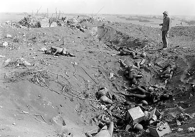 B/&W WWII WW2  Photo Destroyed Japanese Pill Box Iwo Jima  World War Two 2214