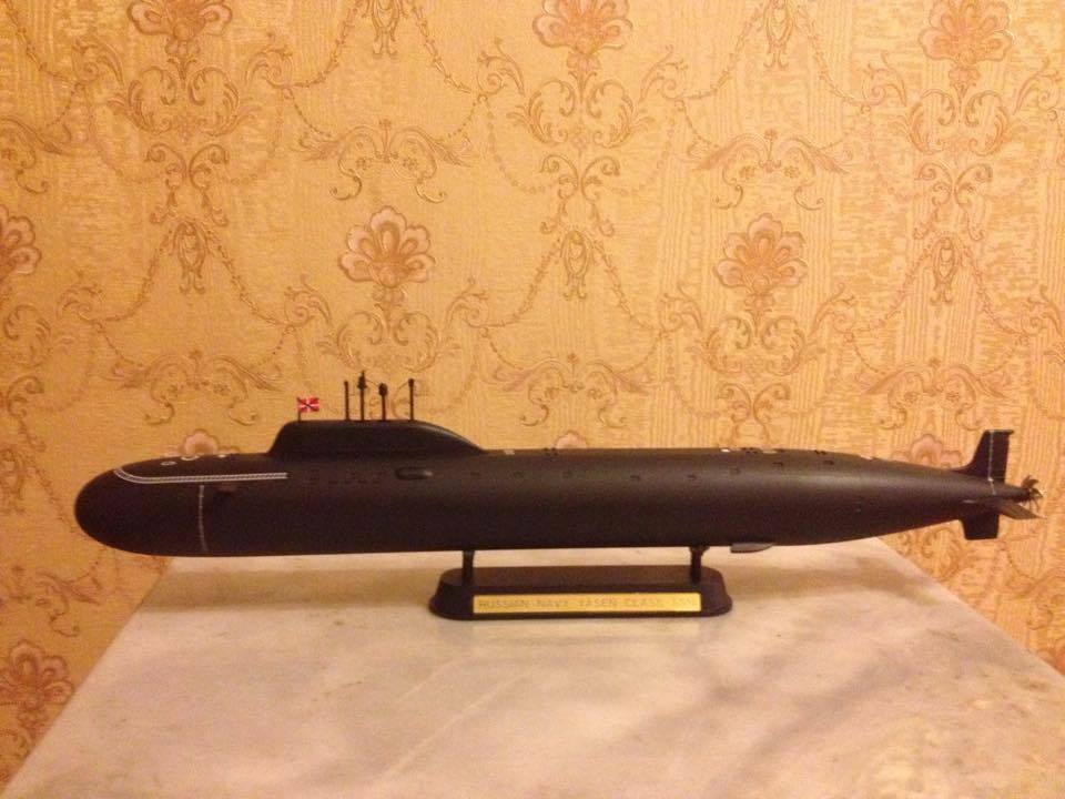 1 350 Russian Yasen class submarine complete model
