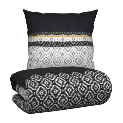 Baumwolle Wende Bettwäsche Modern Africa mit Reißverschluss Naturfaser