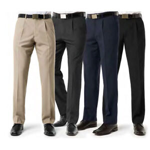 f0958361 Details about MENS TROUSERS OFFICE BUSINESS FORMAL CASUAL BIG PLUS EXTRA  SHORT LEG 27 28 PANTS