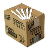 Dixie Plastic Cutlery Mediumweight Knives White 1000/carton Pkm21 on sale