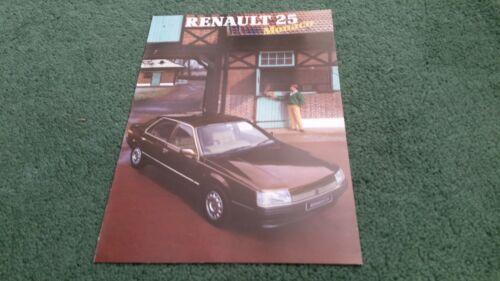 MINT June 1987 Renault 25 MONACO Special Edition UK COLOUR FOLDER BROCHURE