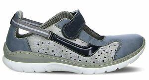 Rieker L0578 Damen Sneaker blau kombi | Schuhpyramide
