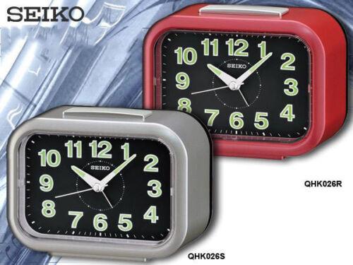 SEIKO loud alarm clock luminous quite sweep snooze night LED light QHK026