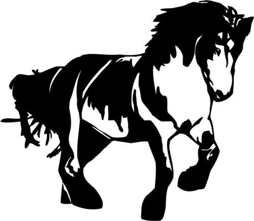 Kaltblut Wandtattoo verschiedene Farben und Größen Kaltblüter Pferd