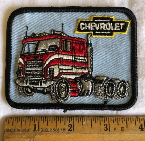 Vintage Chevrolet Truck Logo Embroidered Patch Semi Tractor Trailer Rig Picture