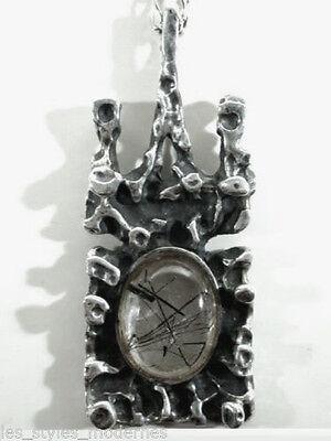 Silber Rutil ANHÄNGER ° Oly - Teka - Relo Qualität ° sixties silver pendant