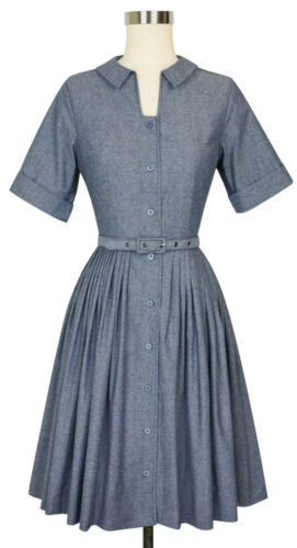 Trashy Diva 2 Shirtwaist Dress Blue Chambray Cotto